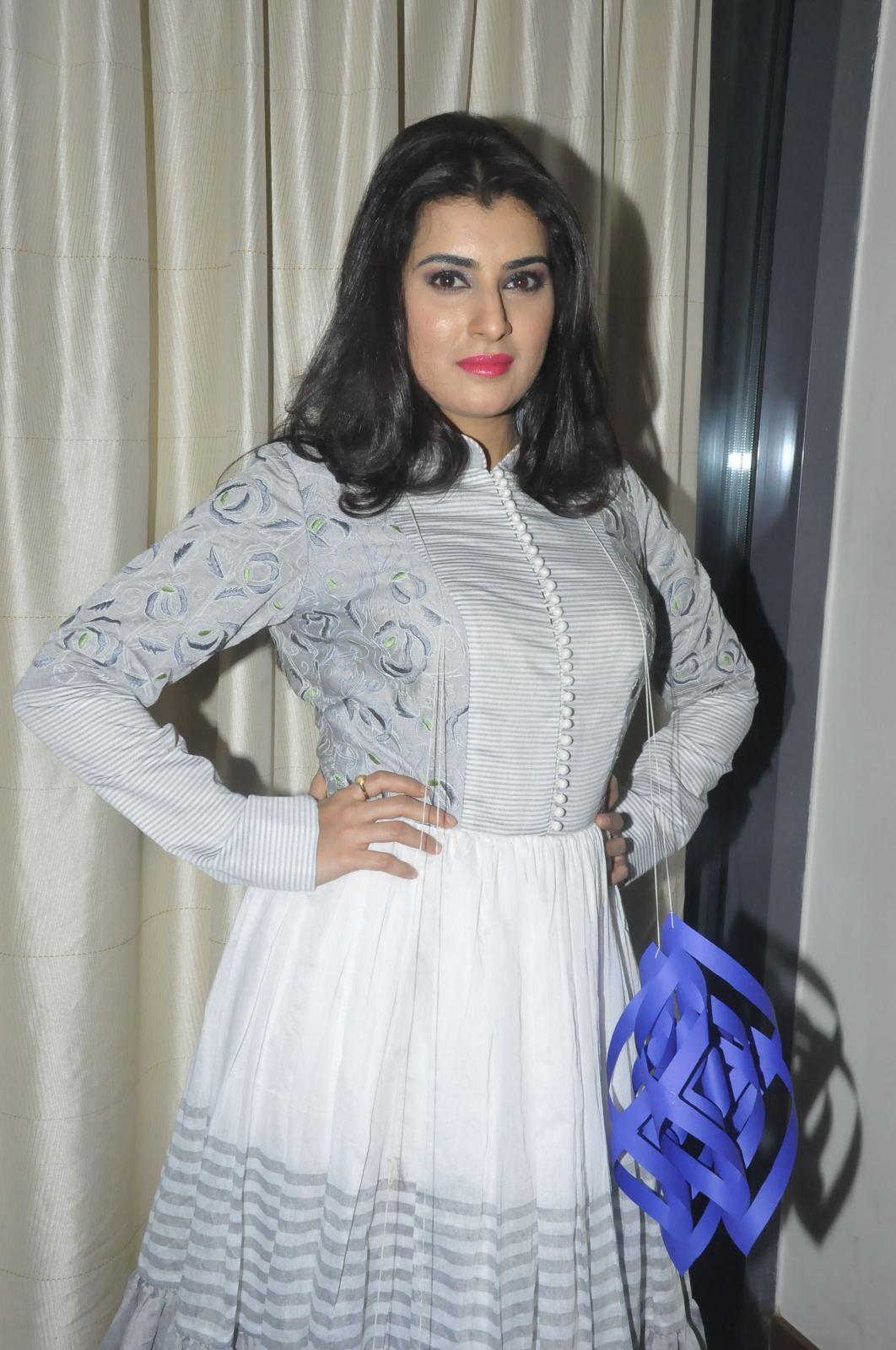 Archana Vedha Photos In White Dress