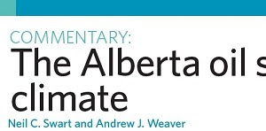 The Alberta oil sands and climate.