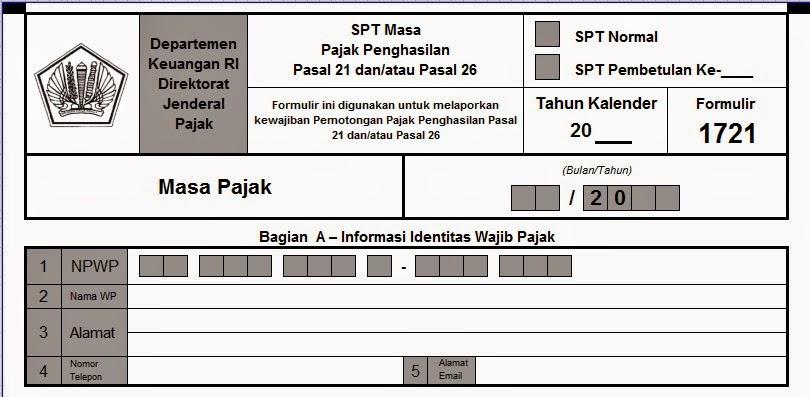 Formulir SPT Pajak Penghasilan