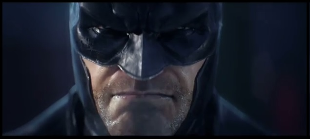 "Image of Batman as he appears in teaser trailer for video game ""Batman: Arkham Origins"""