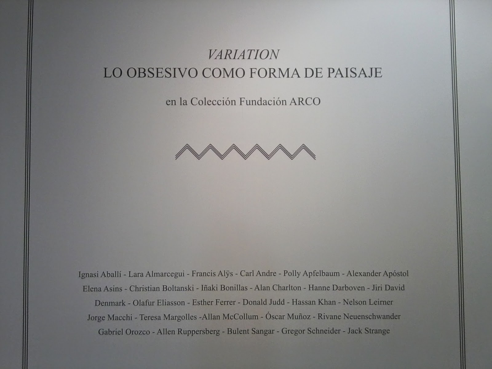 Blog de Arte, Voa-Gallery, Fundación ARCO, Colección, fotografía, Centro de Arte Alcobendas, Exposición temporal, Variation, Instalación,