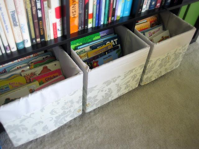 organizing kids' books