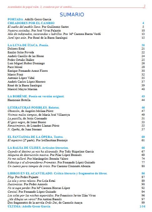 Poetas de hoy revista literaria acantilados de papel n for Revista primicias ya hoy