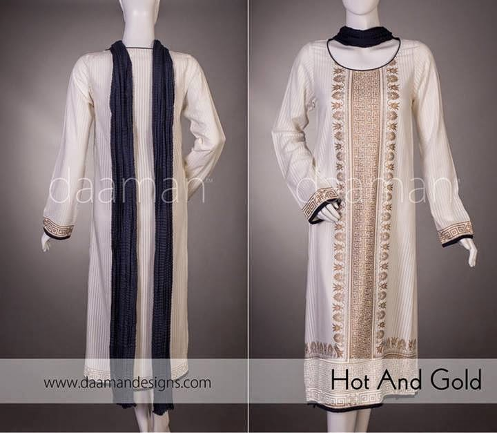 Daaman Eid Collection for Women 2014