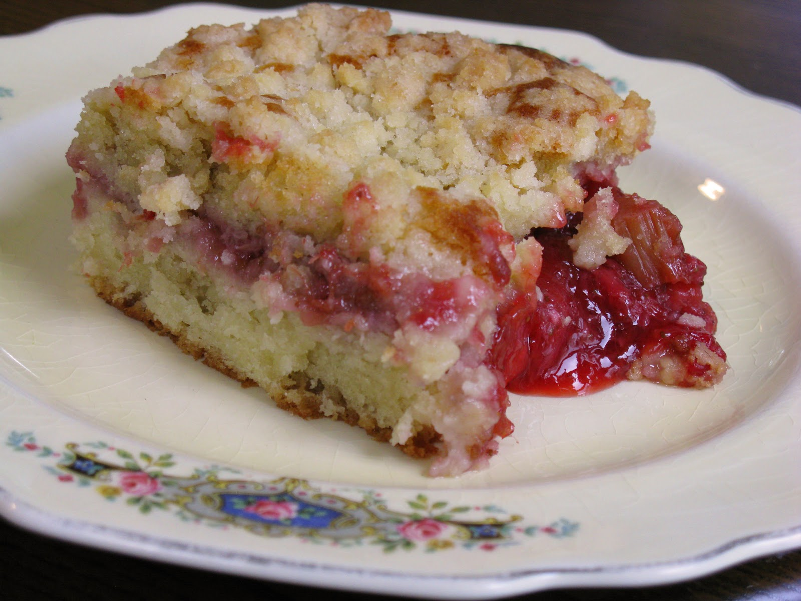 Food for A Hungry Soul: Strawberry Rhubarb Coffee Cake (?)