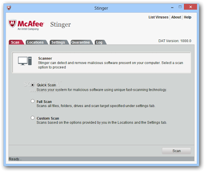 Free Virus Removal Tools Windows | McAfee AVERT Stinger