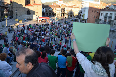 manifestacion del 20n huelga de la educacion en Béjar