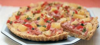 Torta de presunto e abacaxi light