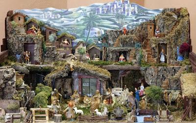 Nacimiento del Niño Jesus con Maria y Jose