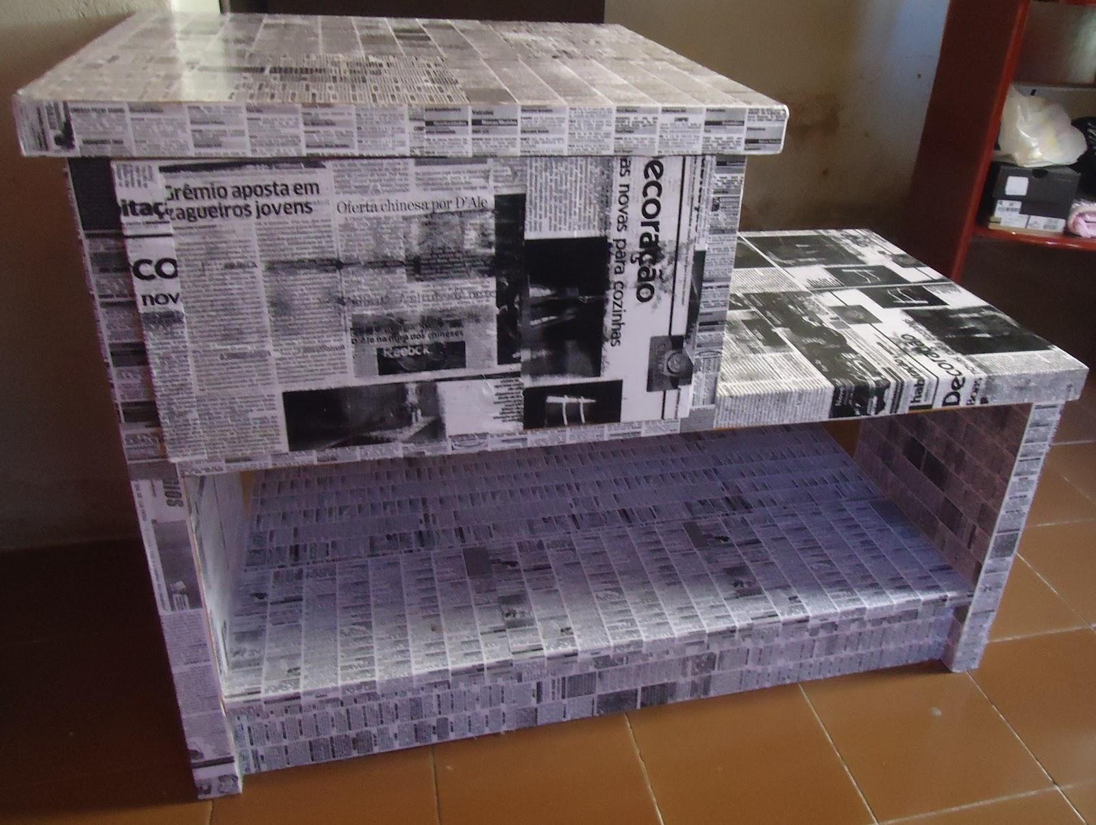 Mistura do Lar: Moveis feito com jornal e papelão #6F492C 1600x1204