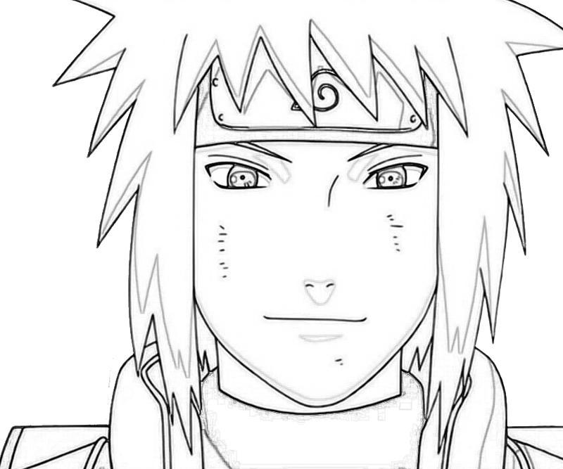 naruto minato smile coloring pages