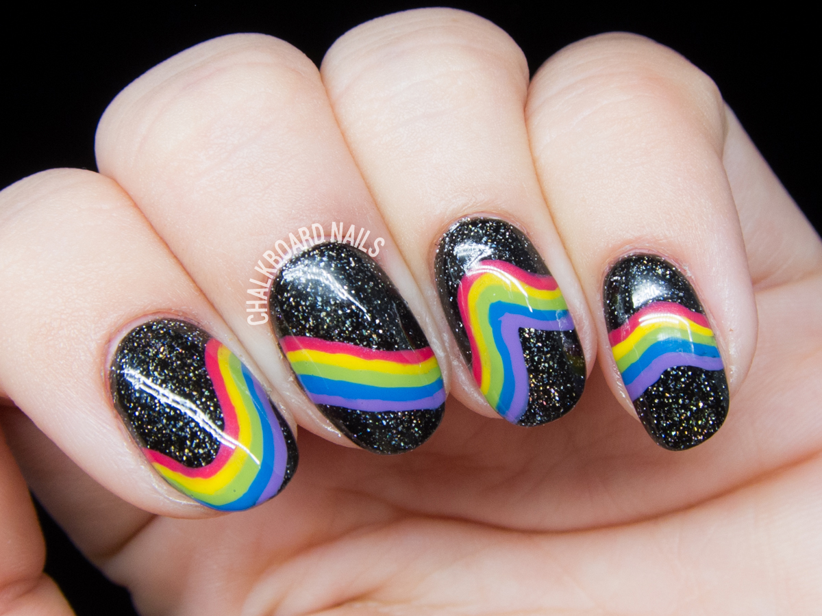 Inspired Galactic Rainbow Nail Art