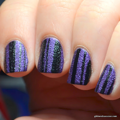 31dc2013, purple, purple nail part, purple stripes, stripe nail art, stripes, striped nail art, nail art,