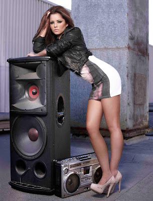 Cheryl Cole Speakers and radio tape wallpapers