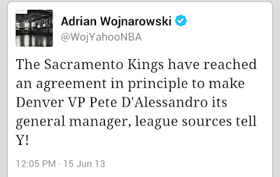Kings hire Pete D'Alessandro as new general manager