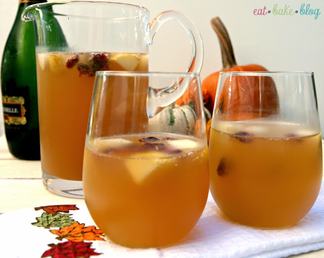 champagne autumn sangria apple cider autumn cocktail
