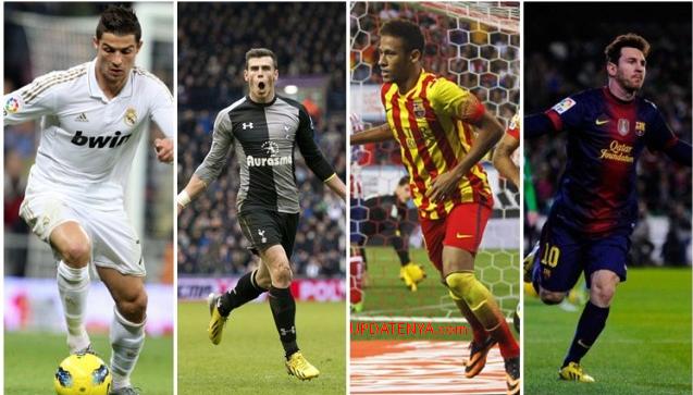 Duel CR7-Gareth Bale vs Lionel Messi-Neymar