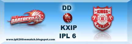 DD vs KXIP Live Scorecards and Live Streaming Video Match 2013