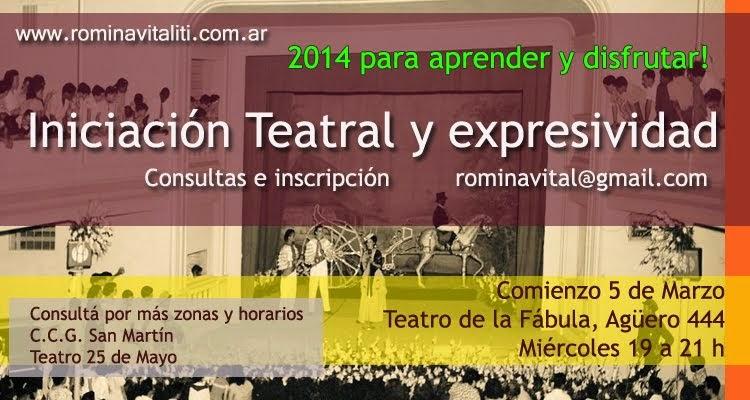 """CURSO TEATRO """"Iniciación Teatral y Expresividad""""."""