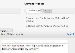 Mengganti atau Mengubah Favicon Blogdetik