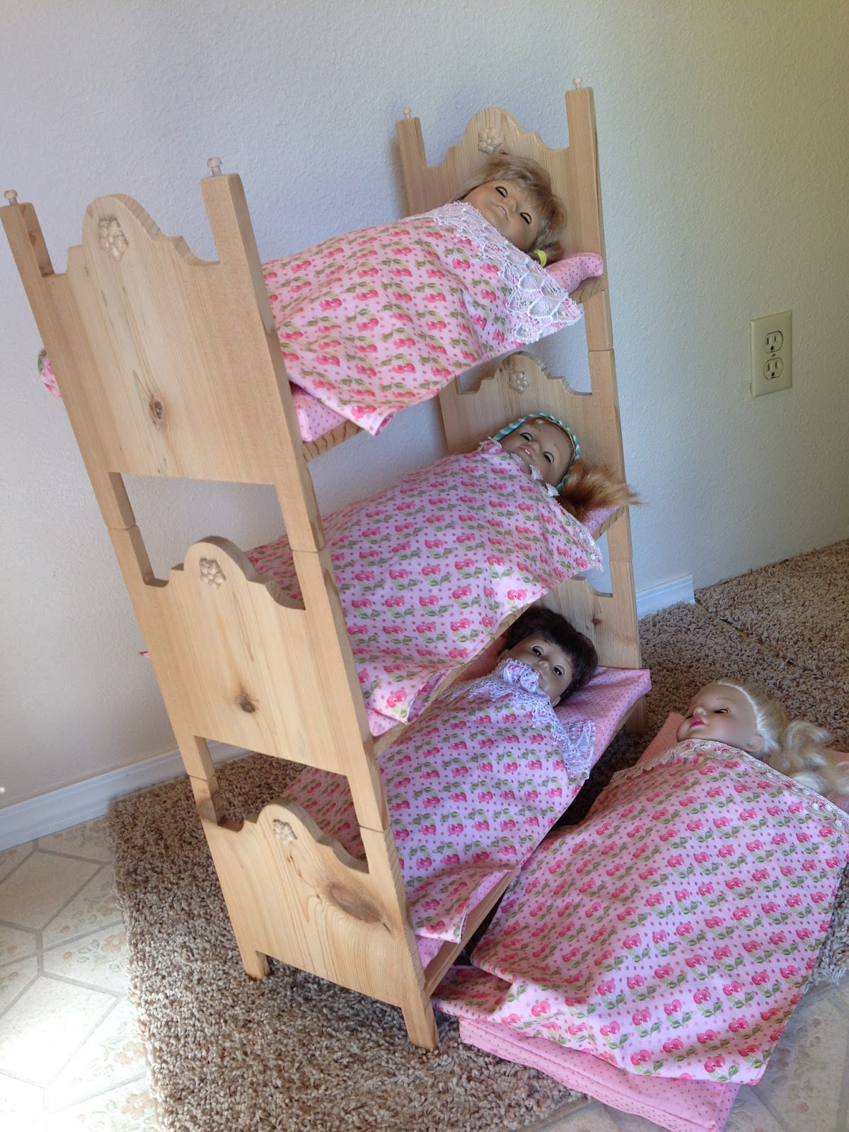 By Him And Her Make Your Own Triple Bunk Beds For American Girl