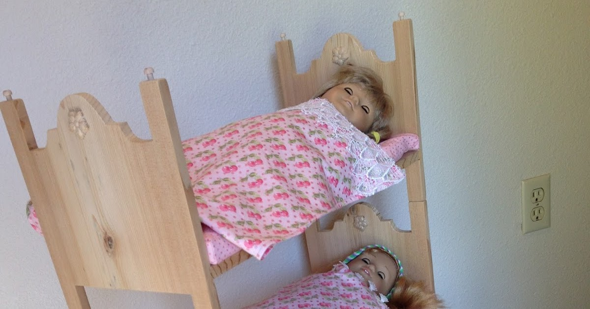 Good by him and her Make your own triple bunk beds for American Girl dolls or any other inch doll