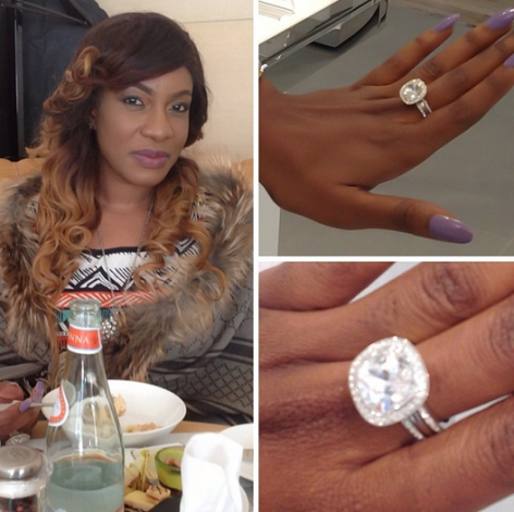 Photo Nollywood Actress Chika Ike Gets Beautiful Diamond Ring From Her Boo