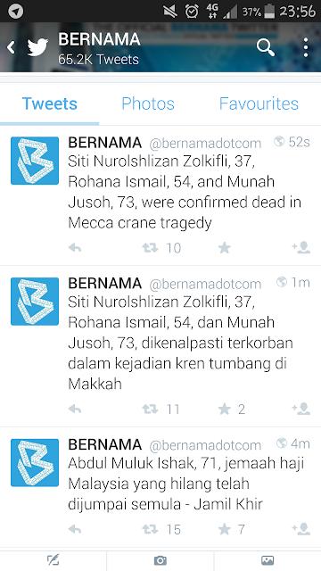 4 jenazah Malaysia telah dikenalpasti dan disahkan termasuk Rusiah Suar