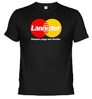 Camiseta mastercard lannister siempre paga sus deudas - Juego de Tronos en los siete reinos