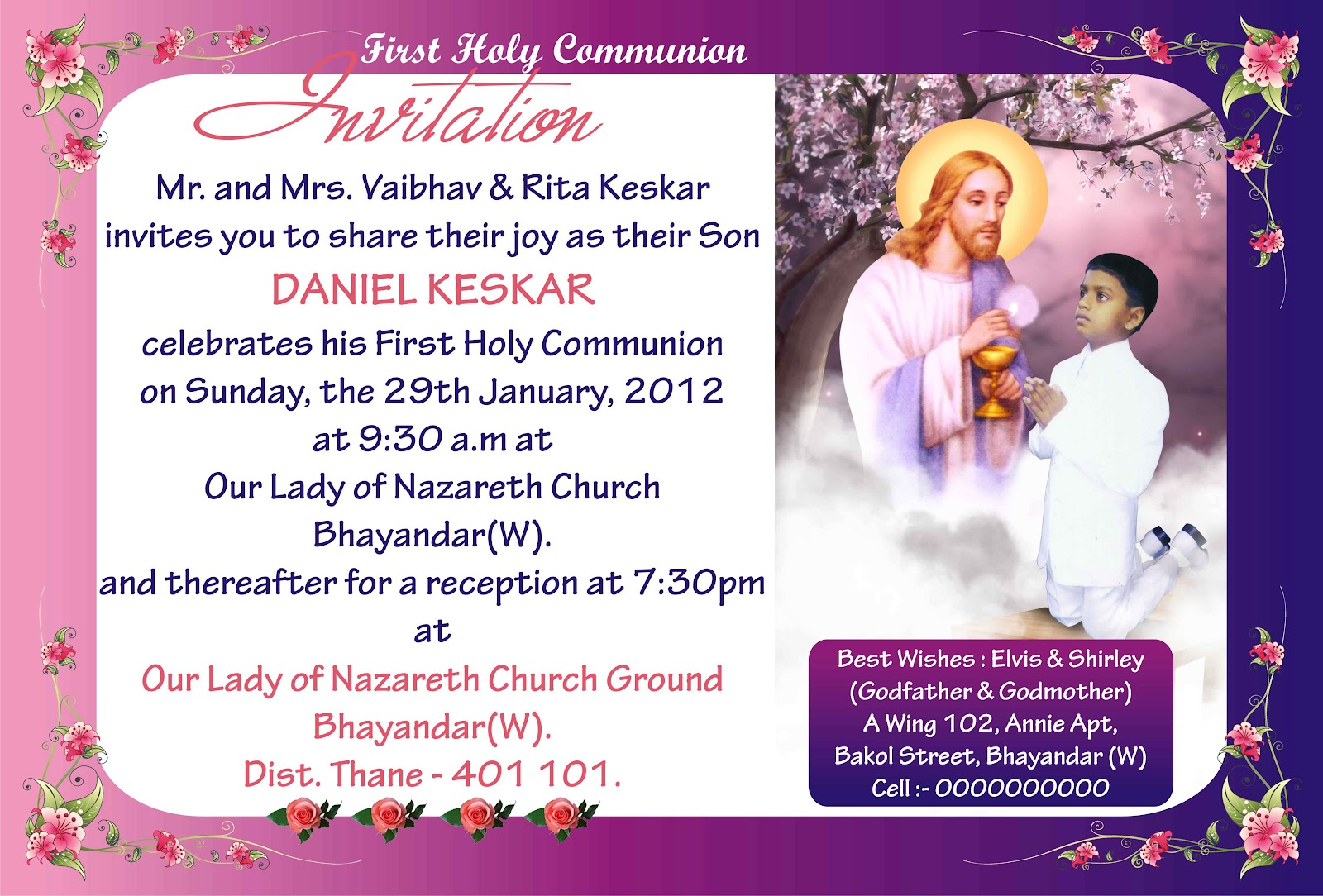 First Holy Communion Invitation Goddy Designs
