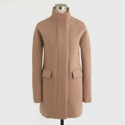 J. Crew Stadium-cloth cocoon coat, $400