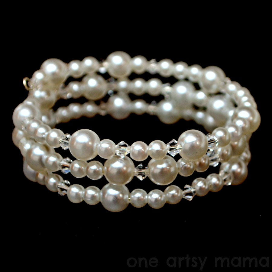 pearl and memory wire bracelet latta creations