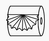 """Оригами """"Складка"""" из туалетной бумаги"""