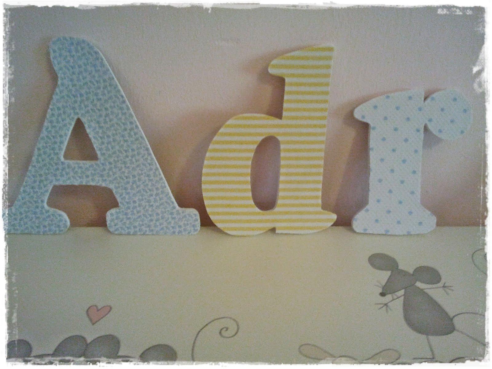 Qu de cucadas letras de pared para adriana - Letras para pared ...