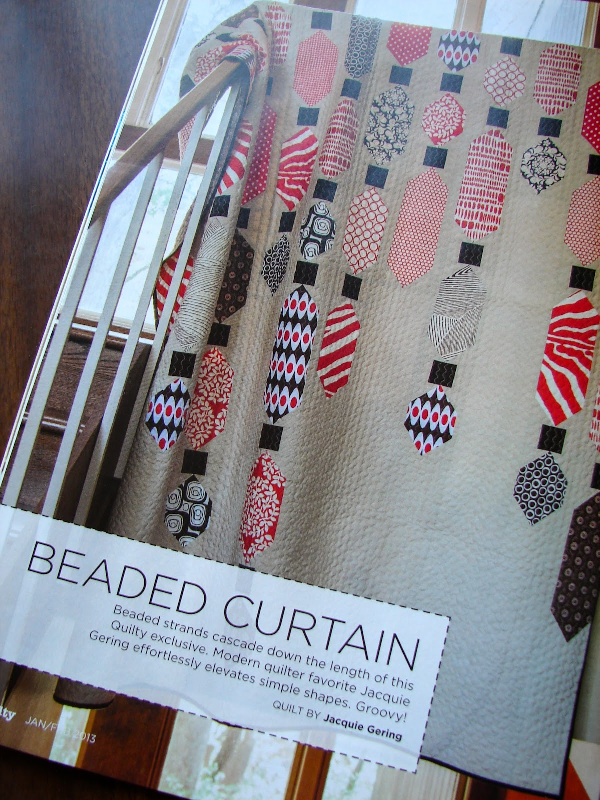 Beaded closet curtains