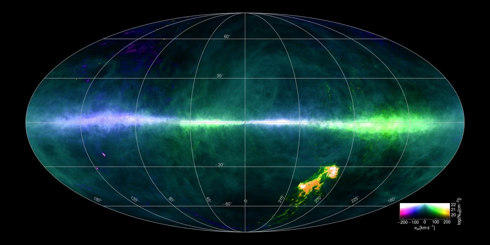 O mais recente mapa detalhado da Via Lactea