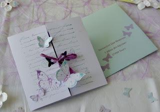 Faire part papillon mariage
