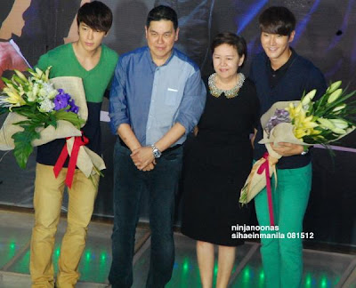 Siwon and Donghae with Ben Chan of Bench