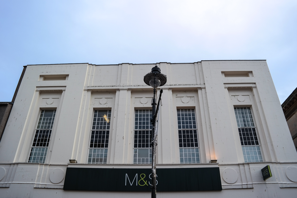 Deco building, now Marks and Spencer