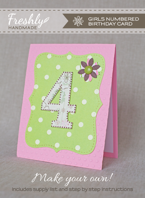 Freshly handmade girls numbered birthday card tutorial girls numbered birthday card tutorial m4hsunfo