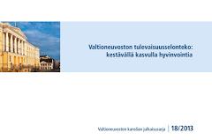 Valtioneuvoston tulevaisuusselonteko: kestävällä kasvulla hyvinvointia