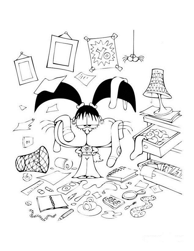 Imagenes de ciudad dibujos para colorear for Cuarto para colorear