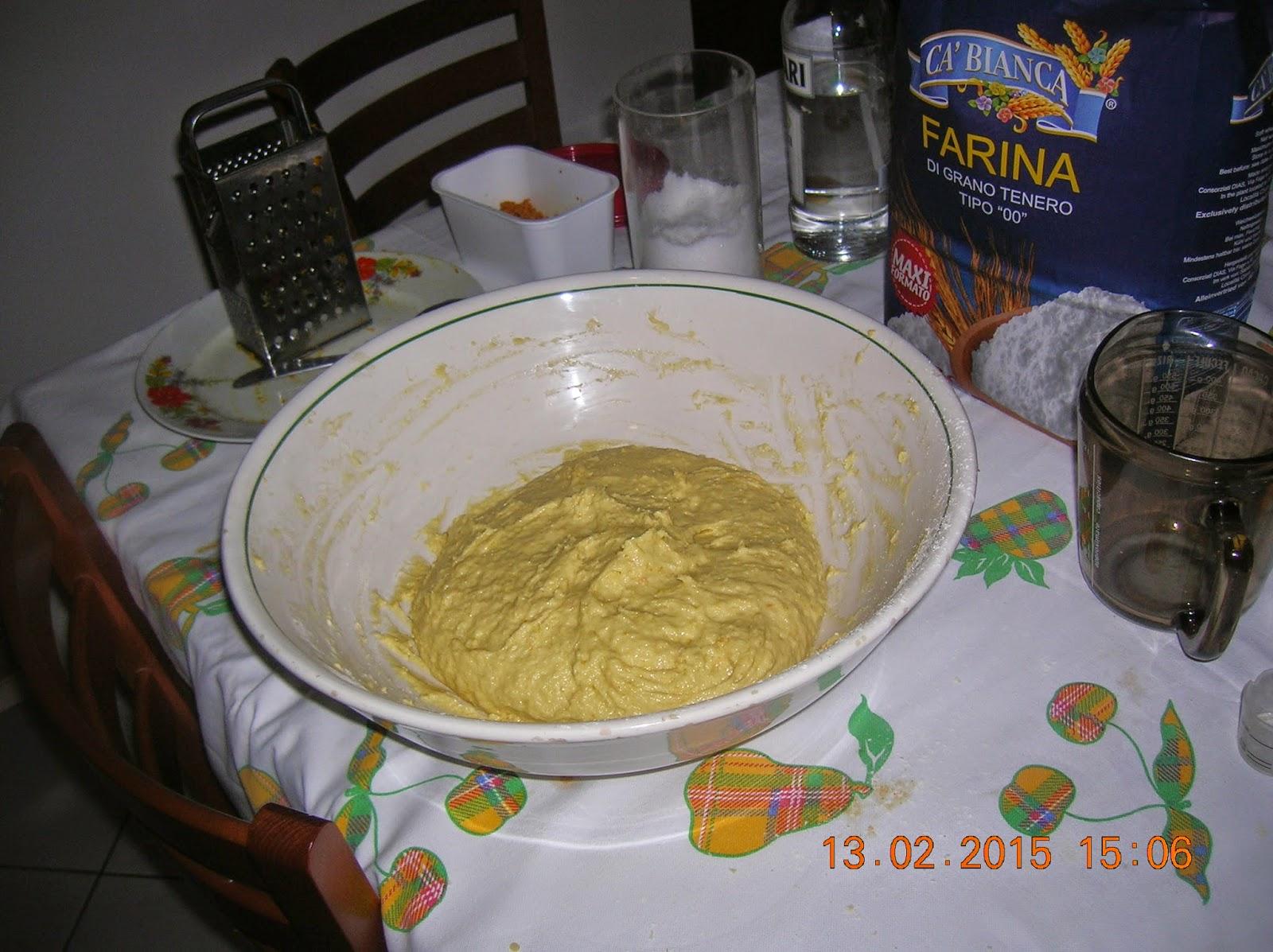 i mie fatti  fritti con pasta madre e farina con semola rimacinata  a lunga lievitazione