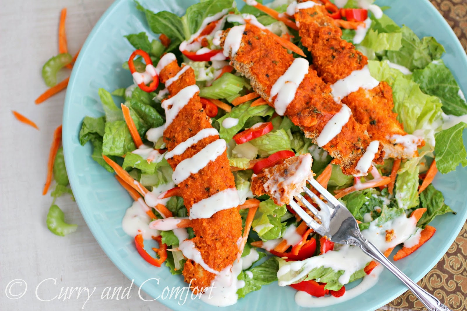 Curry and Comfort: Buffalo Chicken Salad