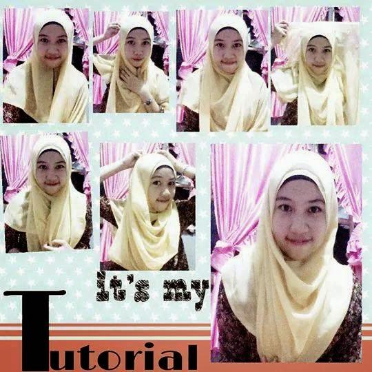 Tutorial Cara memakai jilbab paris simple