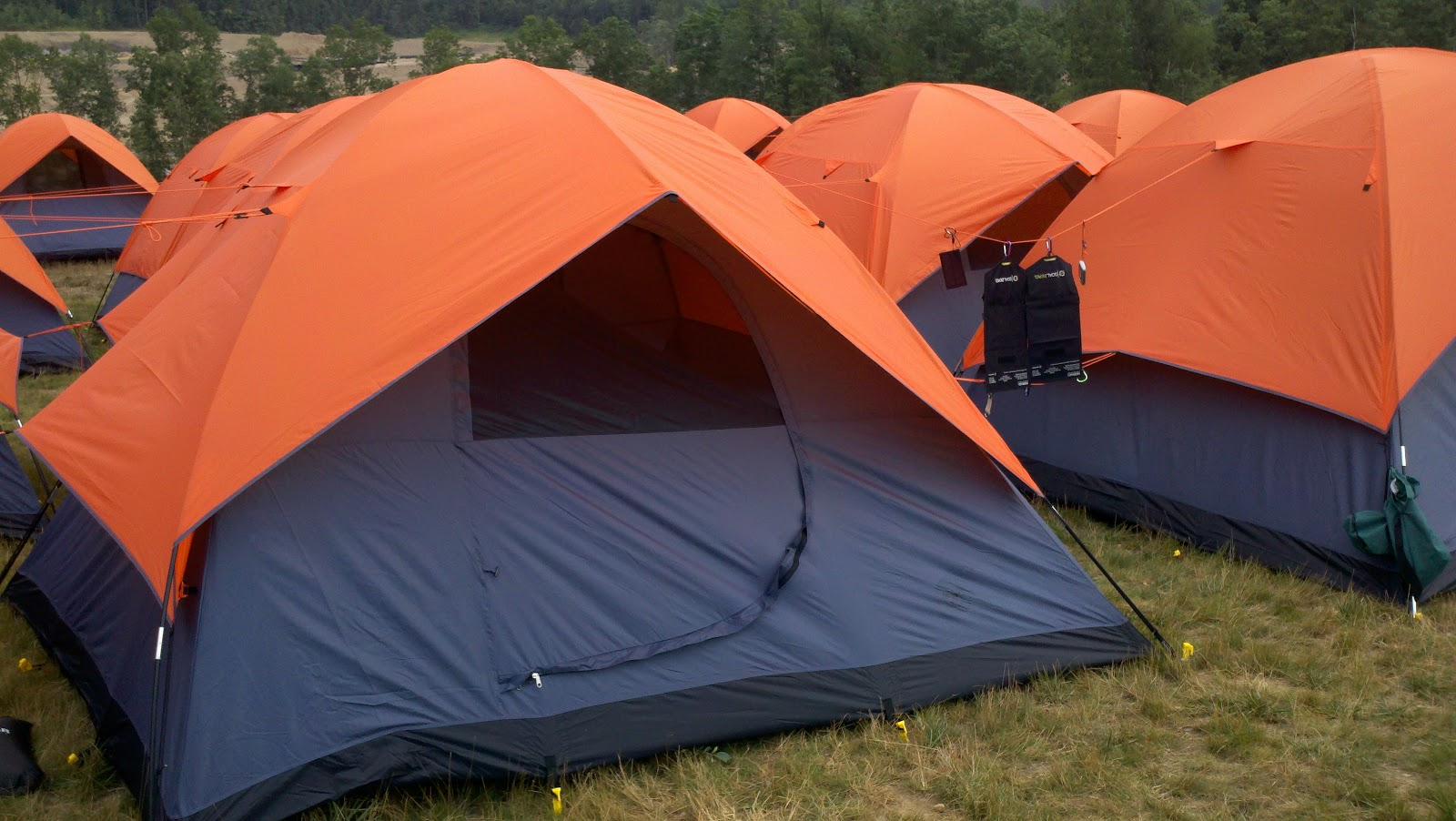 Tents to be used by scouts at 2013 National Scout Jamboree. & emeritbadges: Jamboree Tents