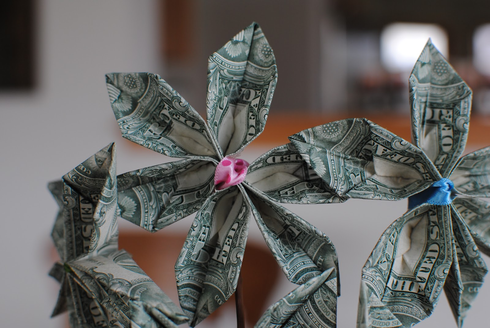 Kristine Faschingbauer Dollar Bill Flower Bouquet