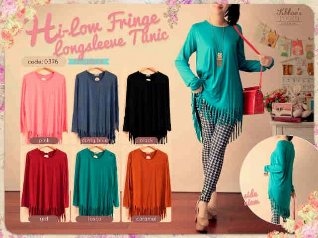 Blouse Hi-Low Fringe