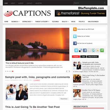 Captions blog template. magazine blogger template style. magazine style template blogspot. 3 column footer blogspot template