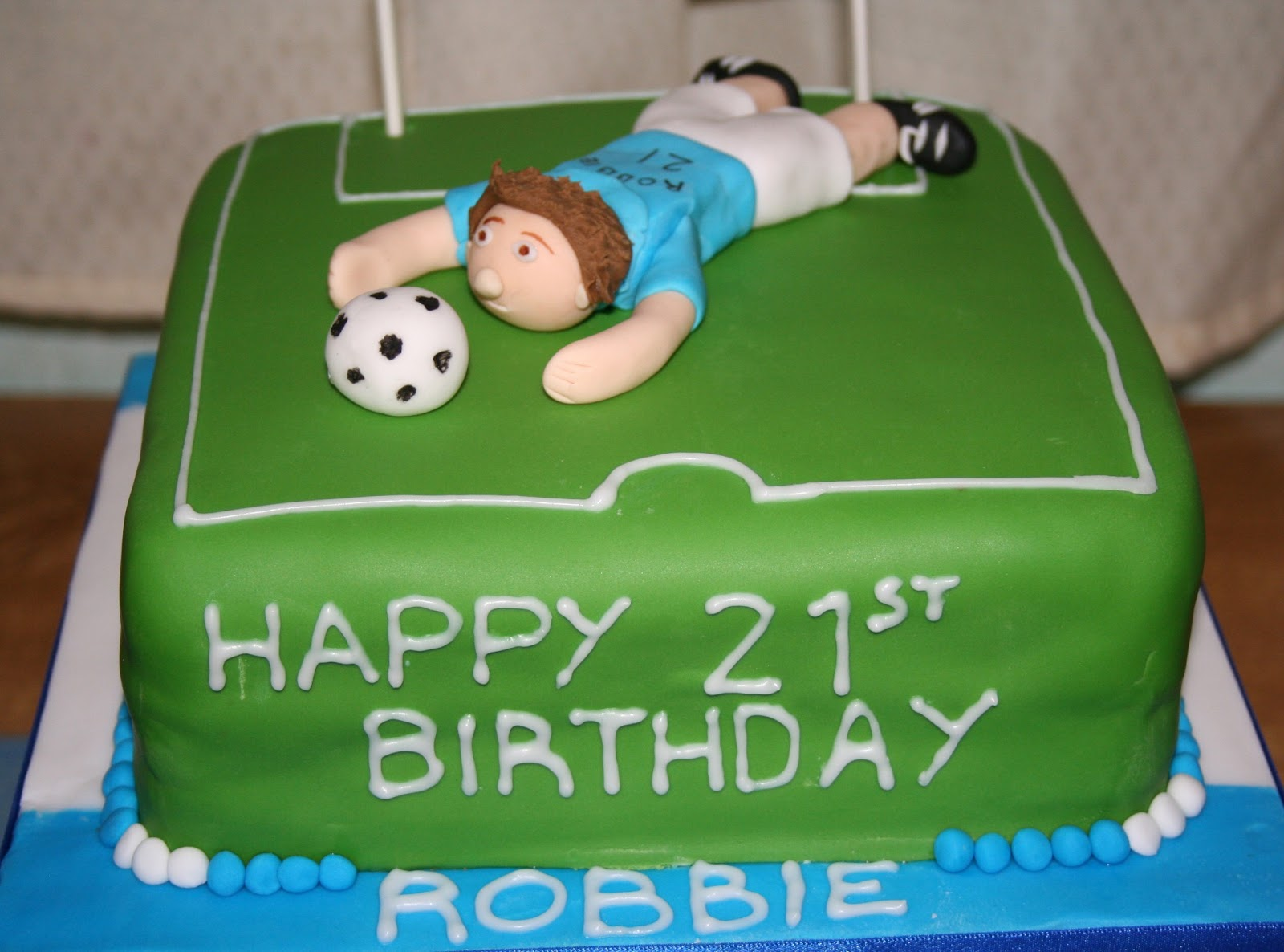 Chintzy Cakes Goal Keeper Football Cake